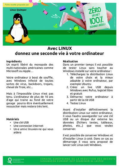 fiche recette Linux Quimper v3 400